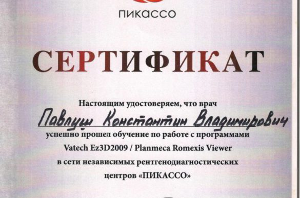 Обучение по работе с программами Vatech Ez3D2009 /Planmeca Romexis Viewer