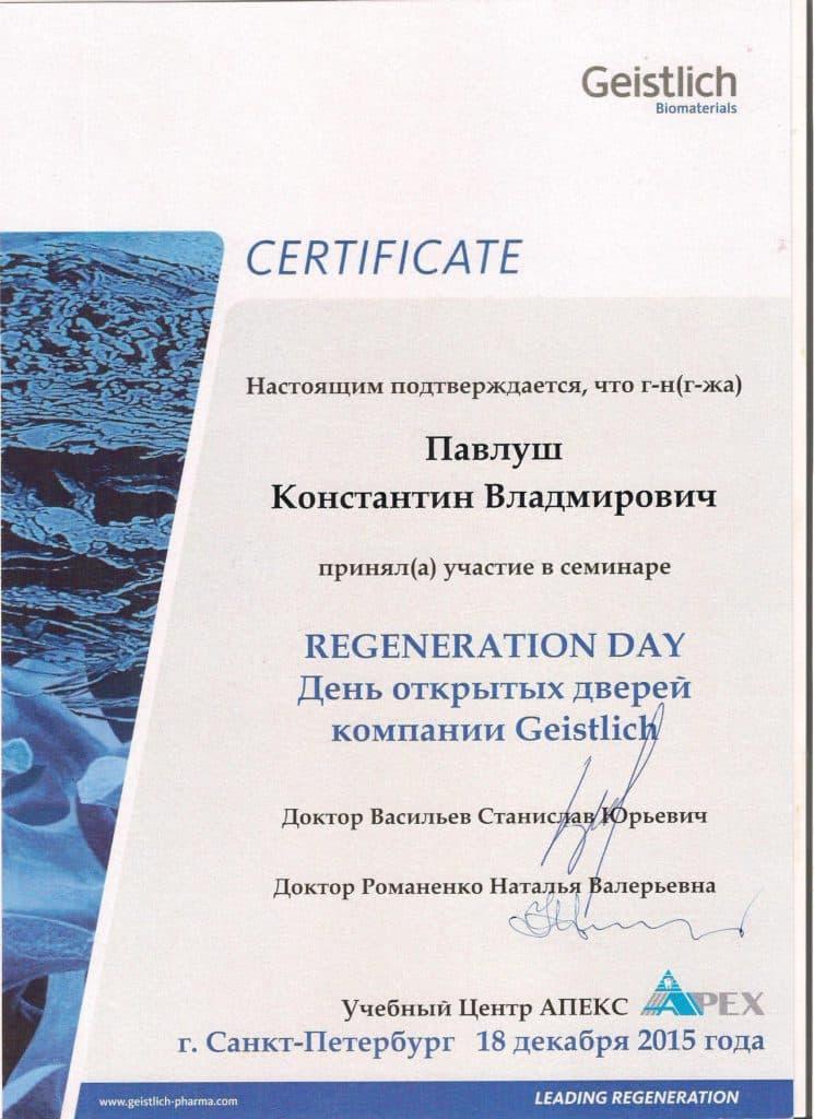 Семинар Regeneration Day День открытых дверей в компании Geistlich. 2015 год